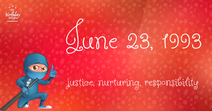 June 23, 1993 Birthday Ninja