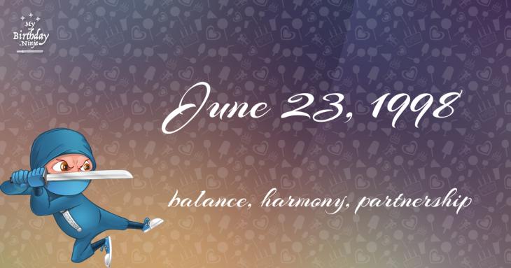June 23, 1998 Birthday Ninja
