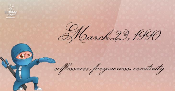 March 23, 1990 Birthday Ninja