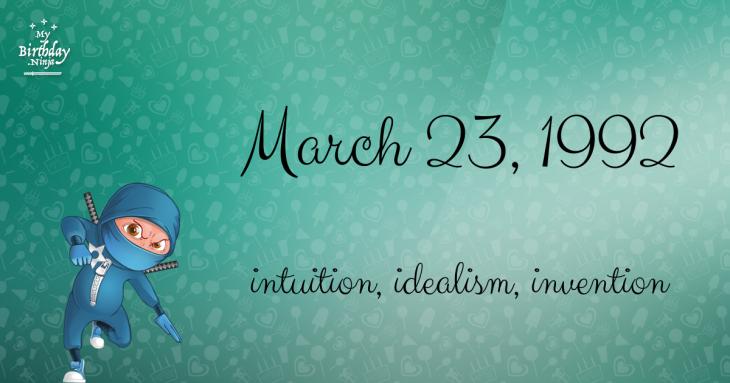 March 23, 1992 Birthday Ninja