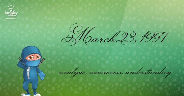 March 23, 1997 Birthday Ninja