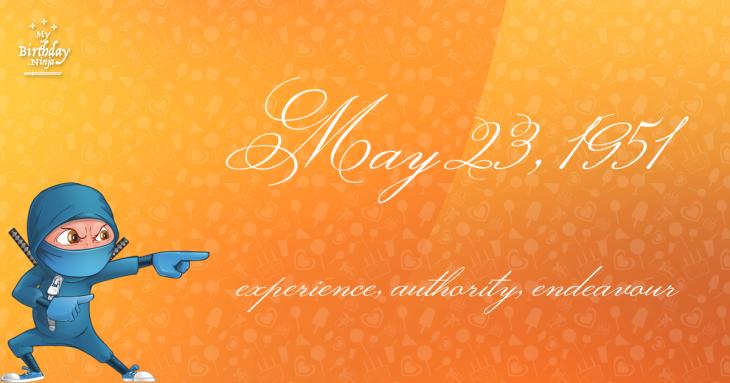 May 23, 1951 Birthday Ninja