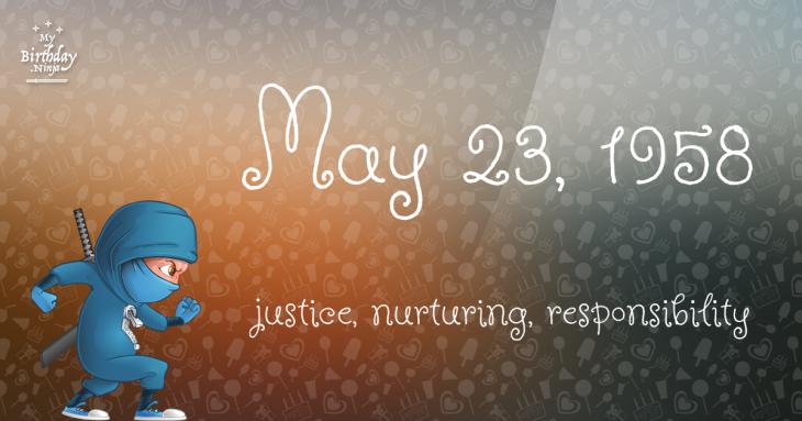 May 23, 1958 Birthday Ninja