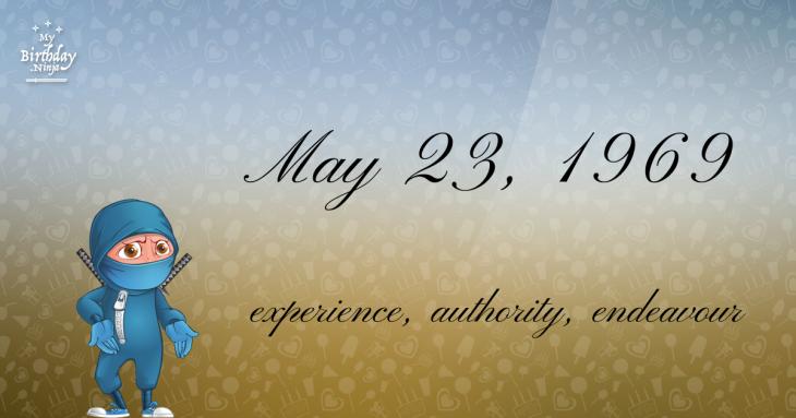 May 23, 1969 Birthday Ninja