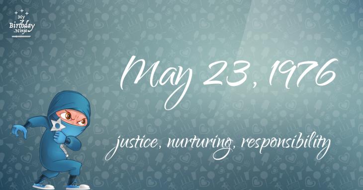 May 23, 1976 Birthday Ninja
