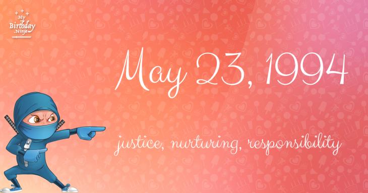 May 23, 1994 Birthday Ninja