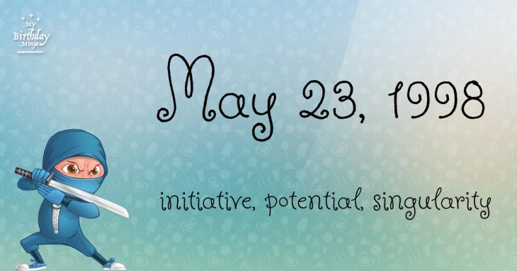 May 23, 1998 Birthday Ninja