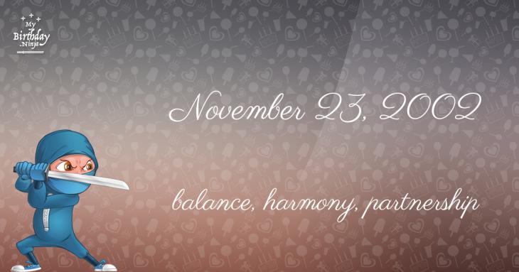 November 23, 2002 Birthday Ninja