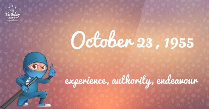 October 23, 1955 Birthday Ninja