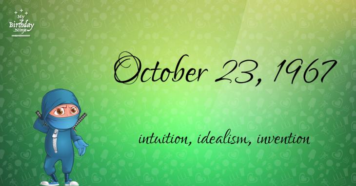 October 23, 1967 Birthday Ninja