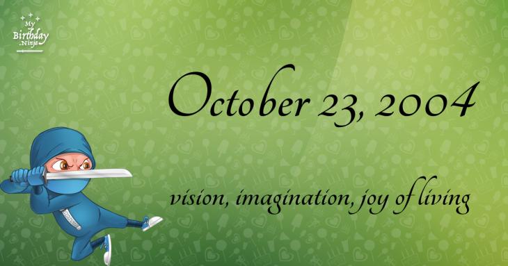 October 23, 2004 Birthday Ninja