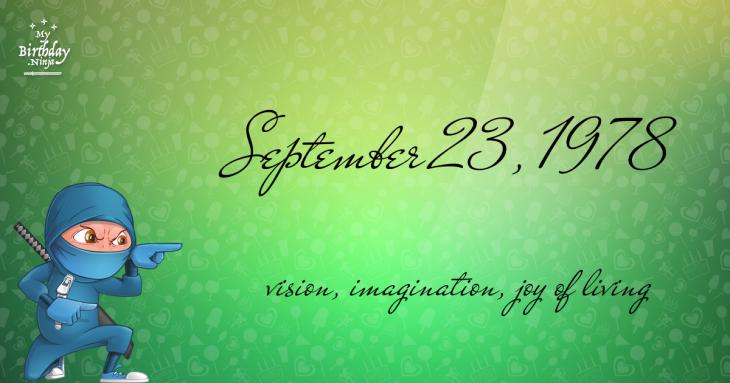September 23, 1978 Birthday Ninja