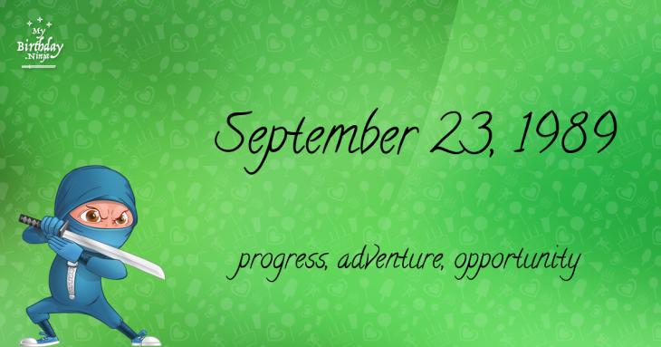 September 23, 1989 Birthday Ninja