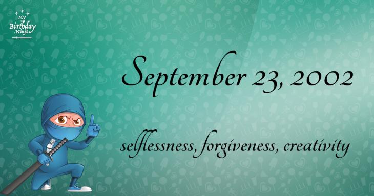 September 23, 2002 Birthday Ninja
