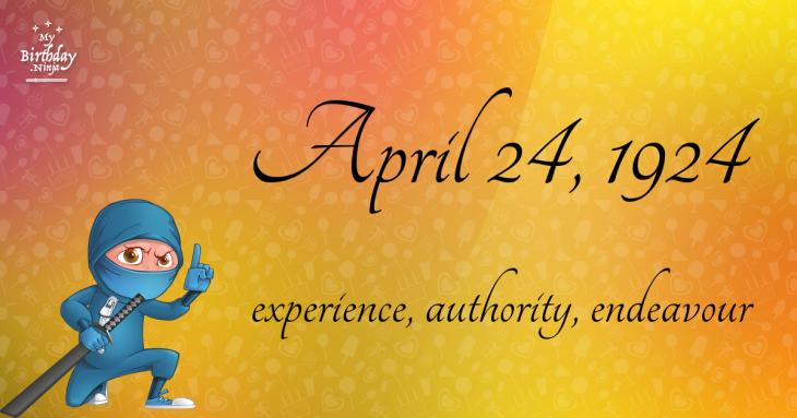 April 24, 1924 Birthday Ninja