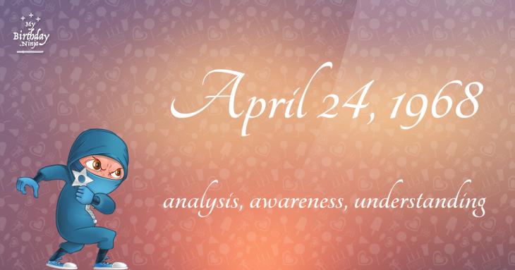 April 24, 1968 Birthday Ninja