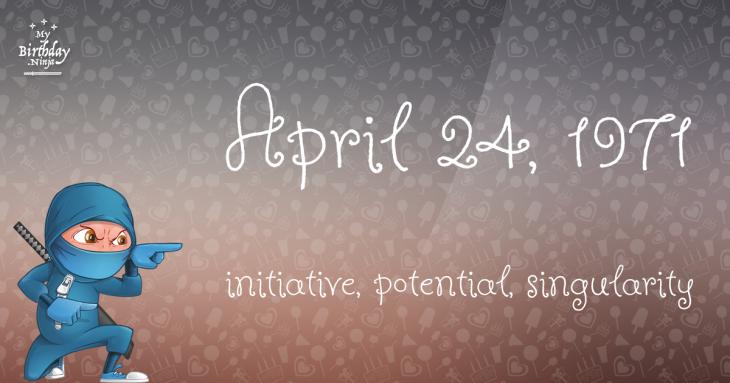 April 24, 1971 Birthday Ninja