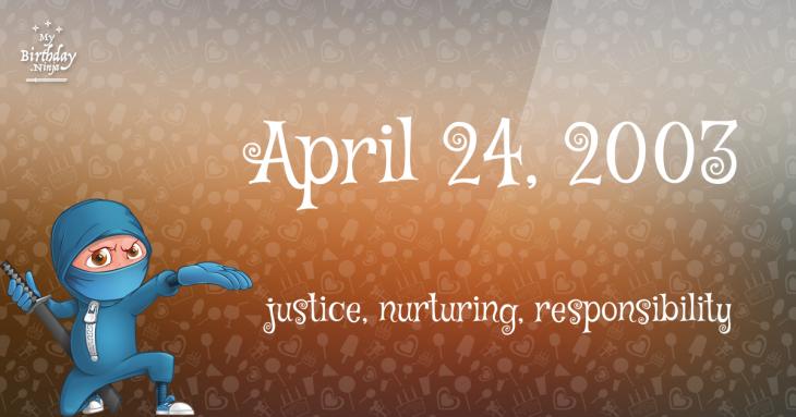 April 24, 2003 Birthday Ninja