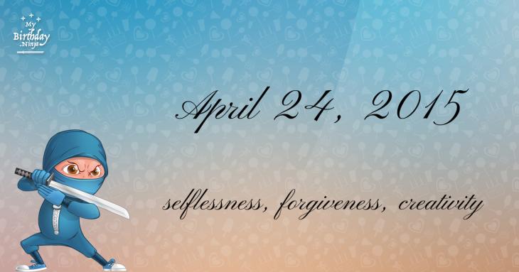 April 24, 2015 Birthday Ninja