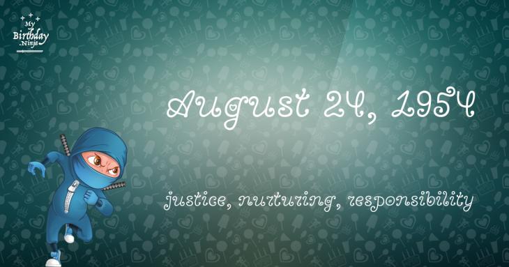 August 24, 1954 Birthday Ninja