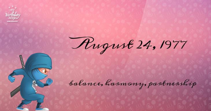 August 24, 1977 Birthday Ninja