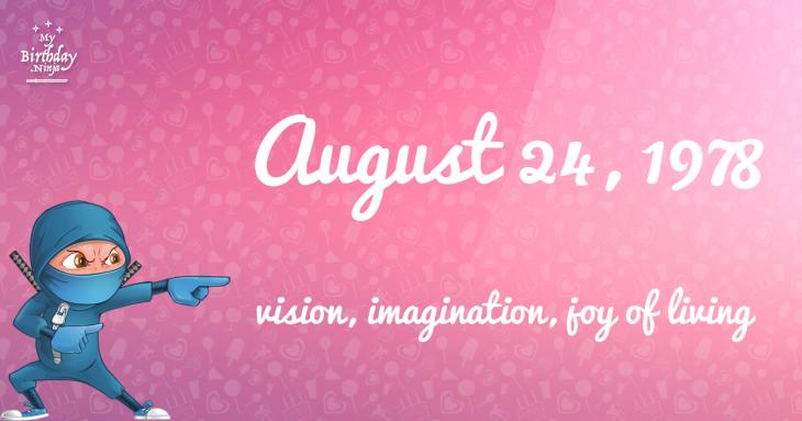 August 24, 1978 Birthday Ninja