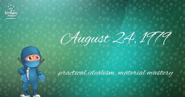 August 24, 1979 Birthday Ninja