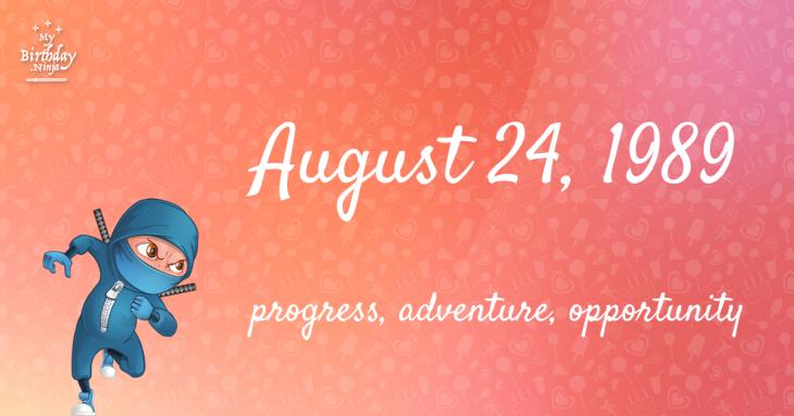 August 24, 1989 Birthday Ninja