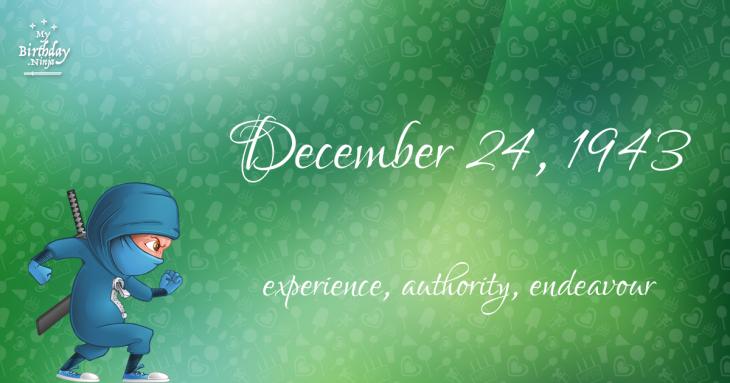 December 24, 1943 Birthday Ninja