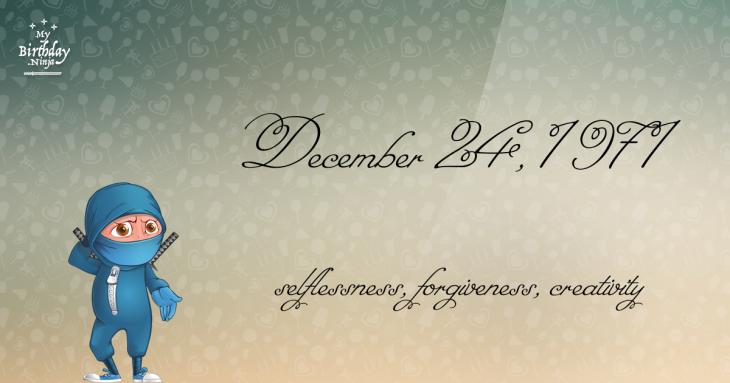 December 24, 1971 Birthday Ninja