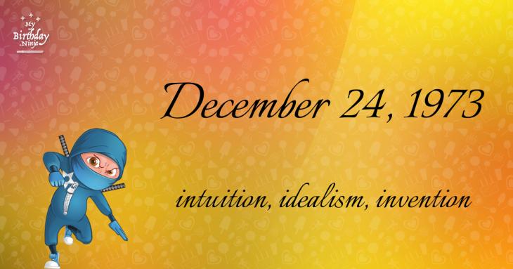 December 24, 1973 Birthday Ninja