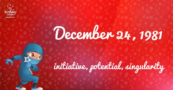 December 24, 1981 Birthday Ninja