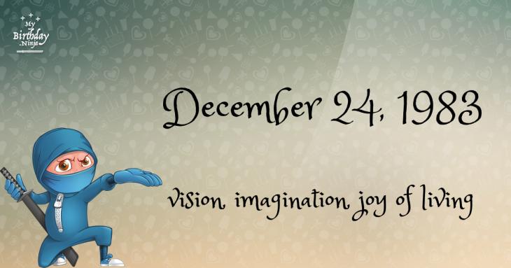December 24, 1983 Birthday Ninja