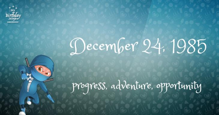 December 24, 1985 Birthday Ninja