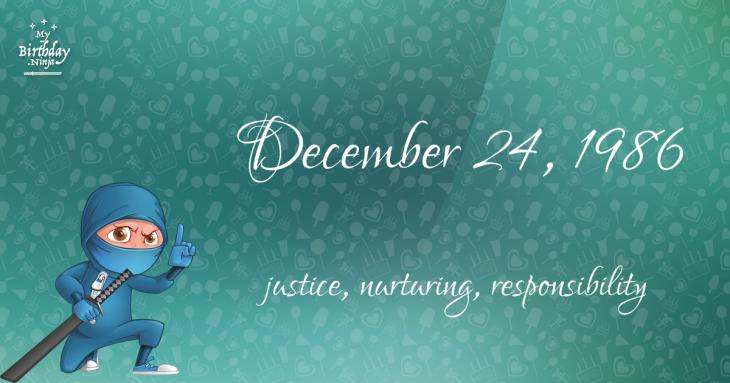 December 24, 1986 Birthday Ninja