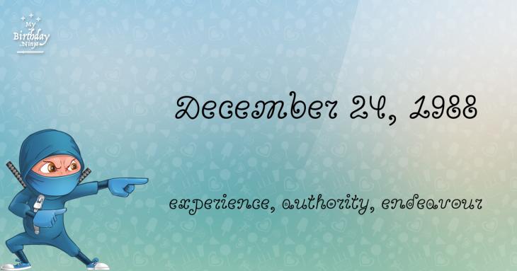 December 24, 1988 Birthday Ninja