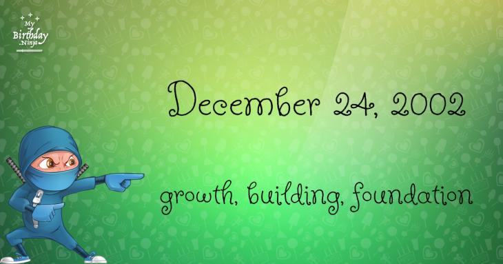 December 24, 2002 Birthday Ninja