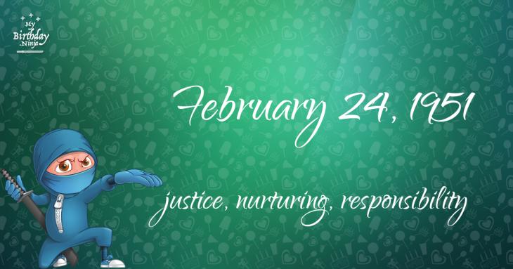 February 24, 1951 Birthday Ninja