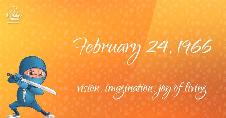February 24, 1966 Birthday Ninja