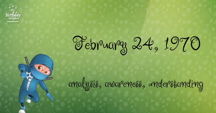 February 24, 1970 Birthday Ninja