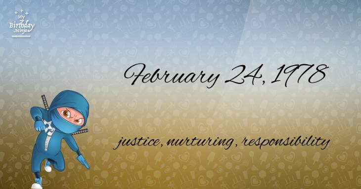 February 24, 1978 Birthday Ninja