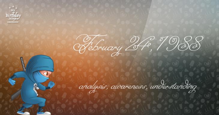 February 24 1988 Astrology