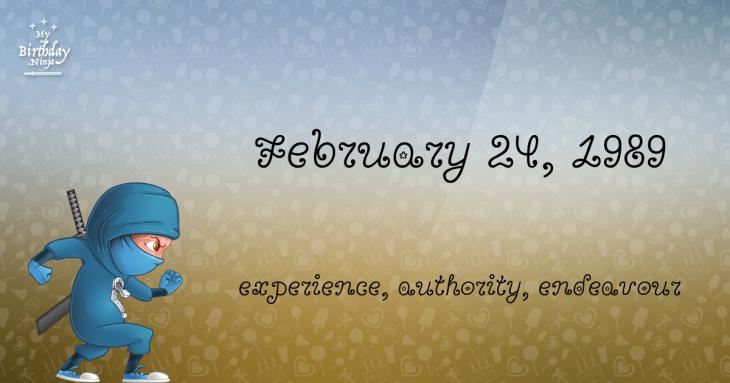 February 24, 1989 Birthday Ninja