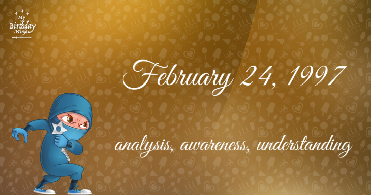 February 24, 1997 Birthday Ninja