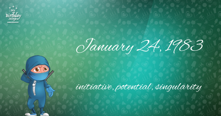 January 24, 1983 Birthday Ninja