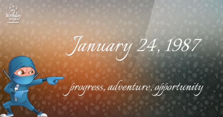 January 24, 1987 Birthday Ninja