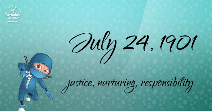 July 24, 1901 Birthday Ninja