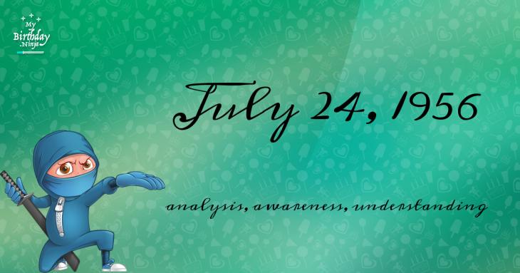 July 24, 1956 Birthday Ninja