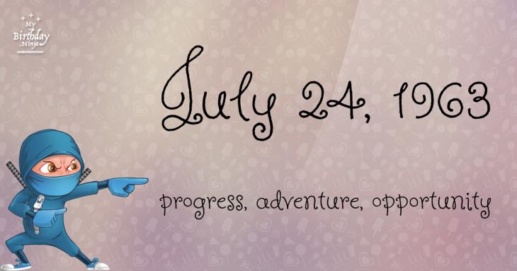 July 24, 1963 Birthday Ninja