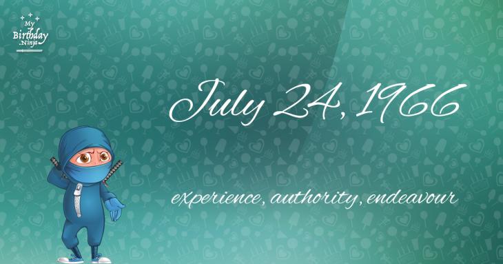 July 24, 1966 Birthday Ninja